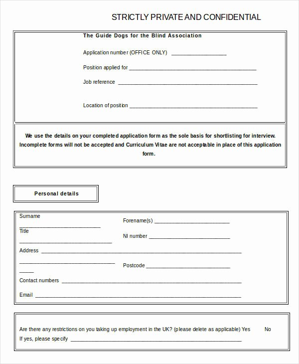 Blank Job Application 8 Free Word Pdf Documents