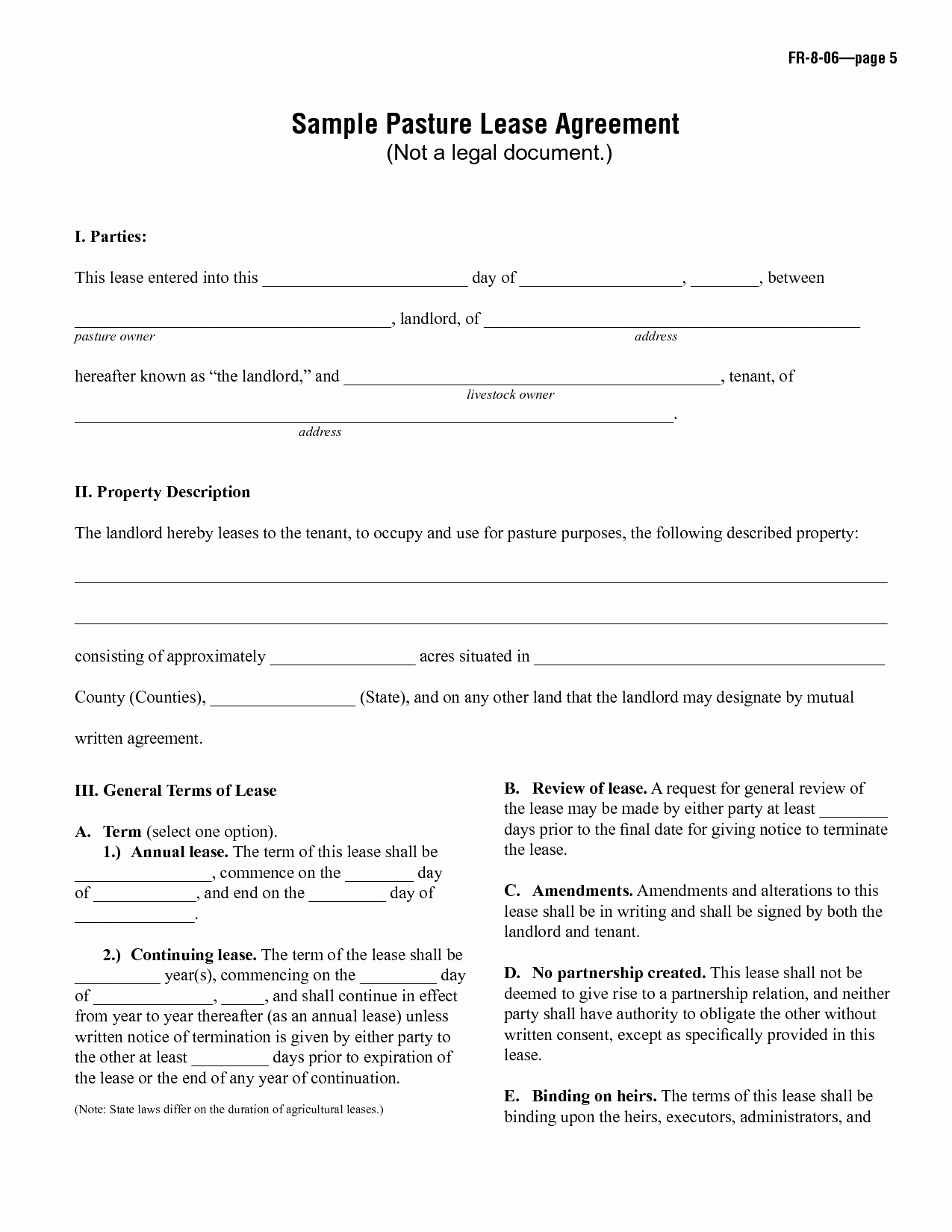 Blank Lease Agreement Example Mughals