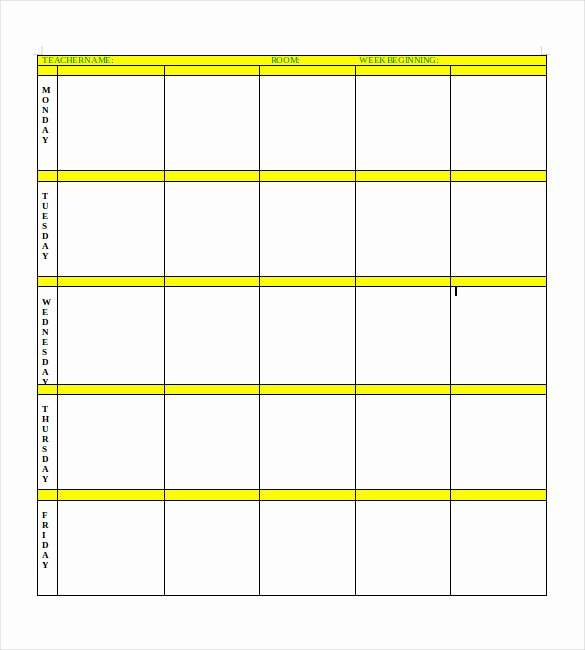 Blank Lesson Plan Template – 15 Free Pdf Excel Word