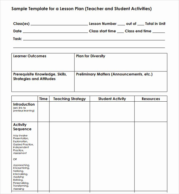 Blank Lesson Plan Template 7 Download Free Documents In
