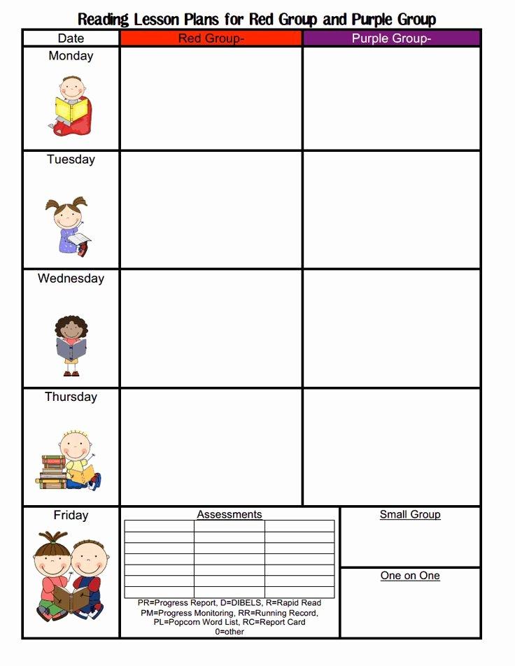 Blank Lesson Plan Template Preschool