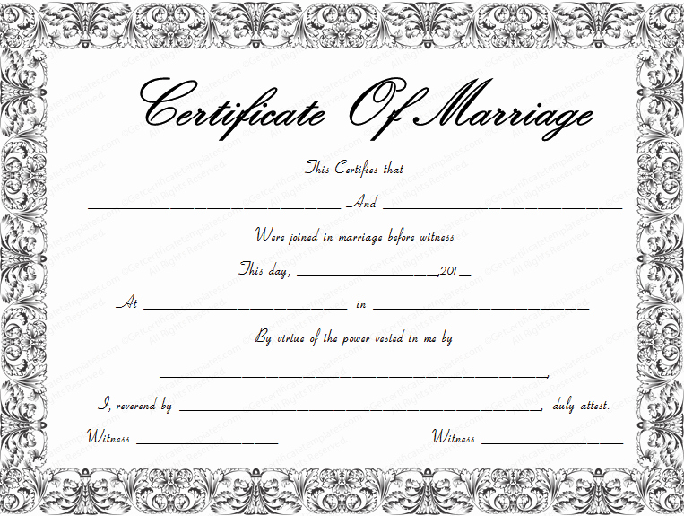 Blank Marriage Certificate Template Image Result for