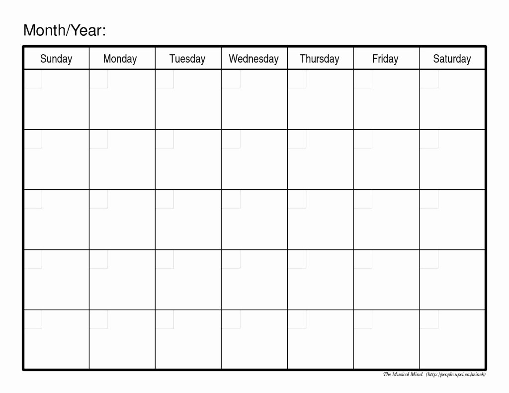 Blank Monthly Calendar 2017 February 2017 Monthly Calendar
