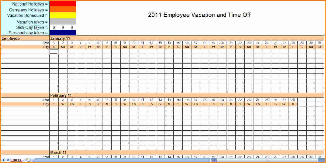 Blank Monthly Employee Schedule Template Templates