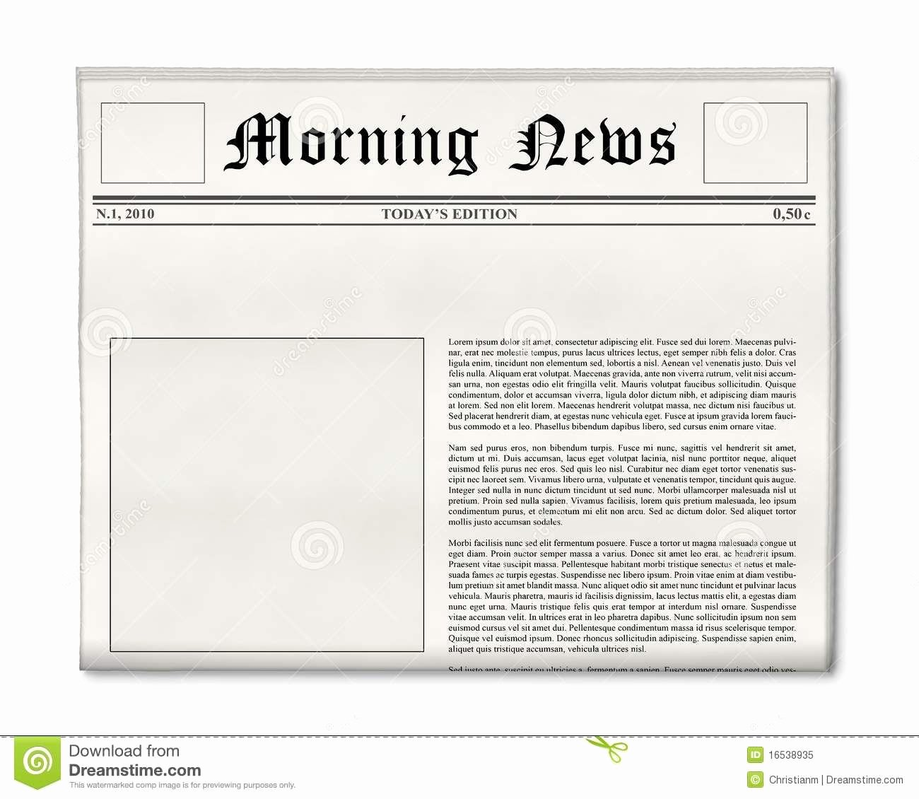 Blank Newspaper Layout Google Search