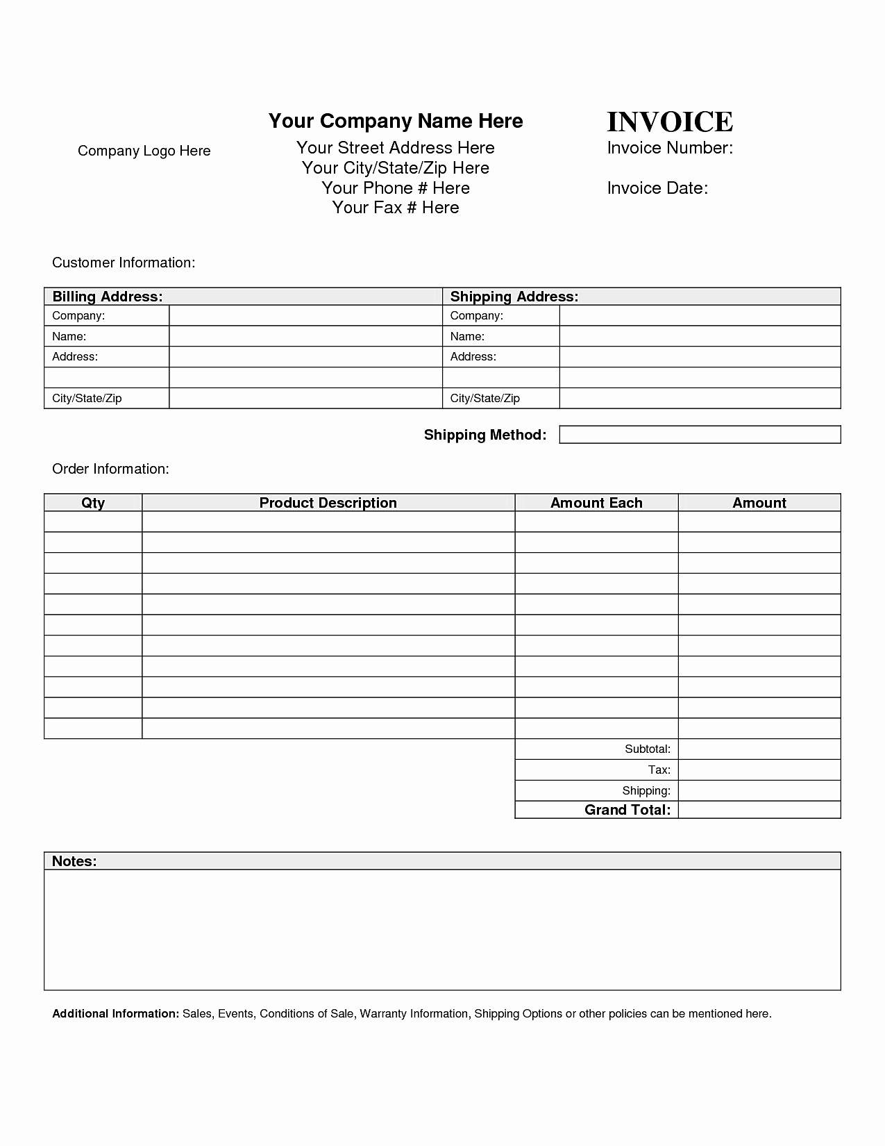 Blank order form Template Example Mughals