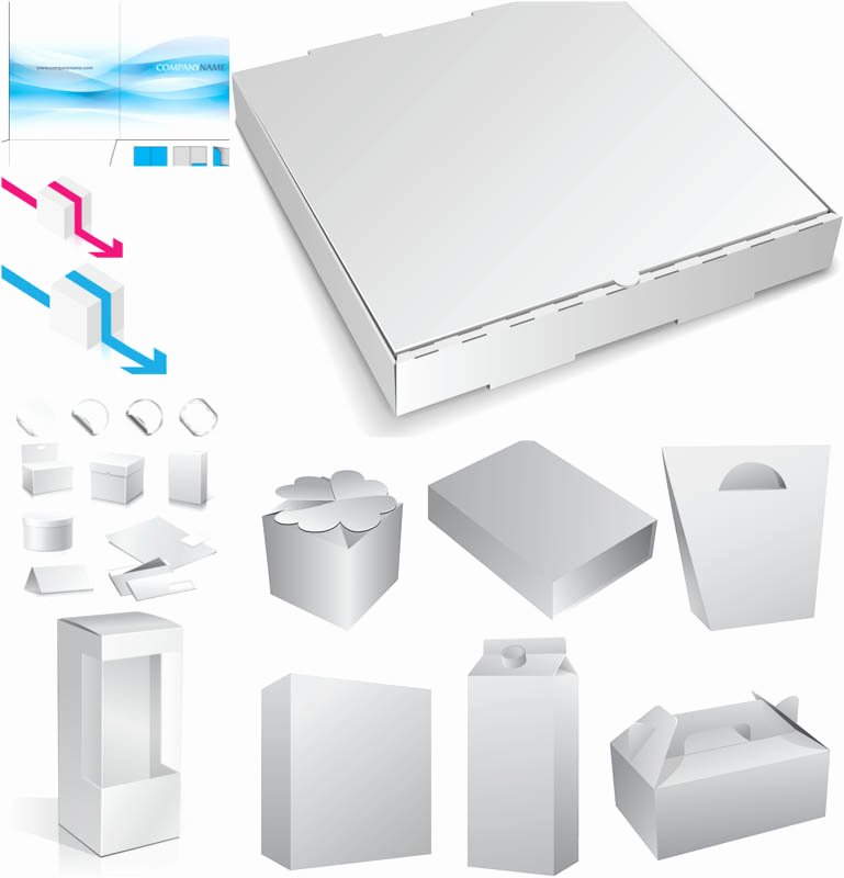 Blank Packaging Designs Vector