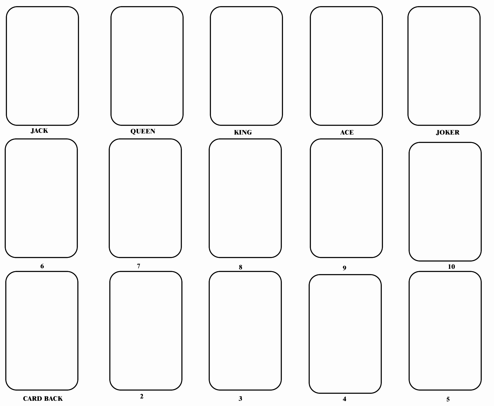 Blank Playing Card Template E Day Pinterest