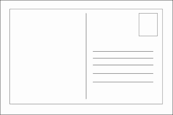 Blank Postcard Template Word Free Printable – Jjbuildingfo