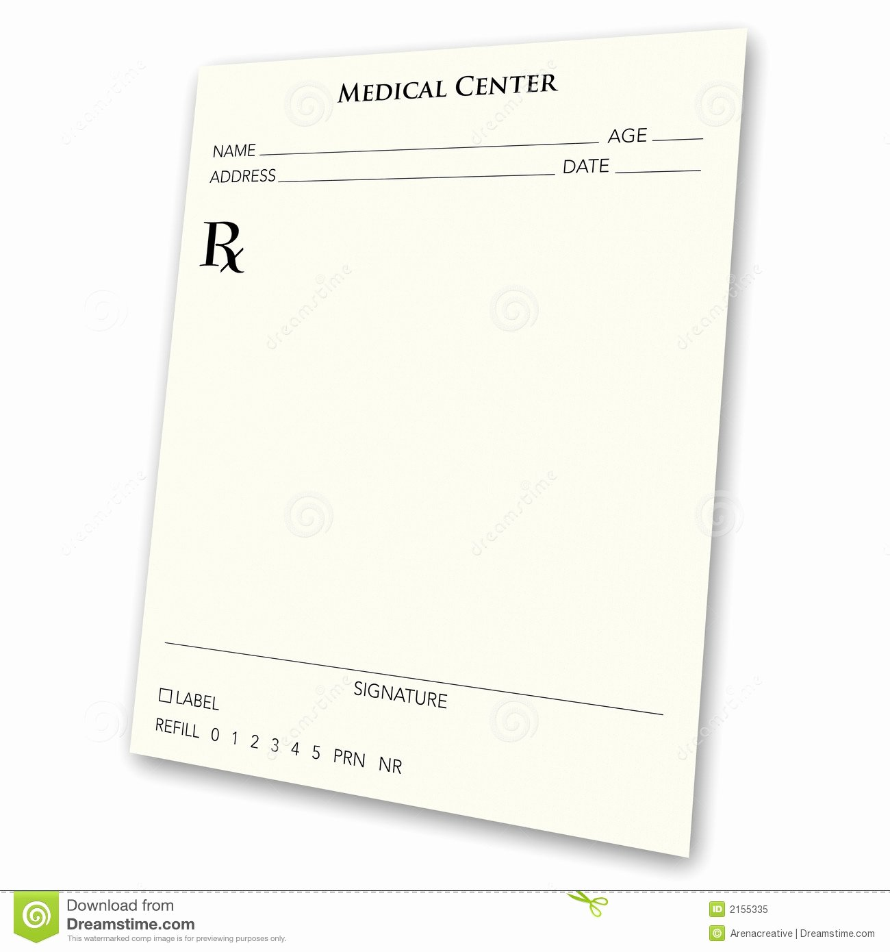 Blank Prescription Pad Stock Illustration Illustration Of