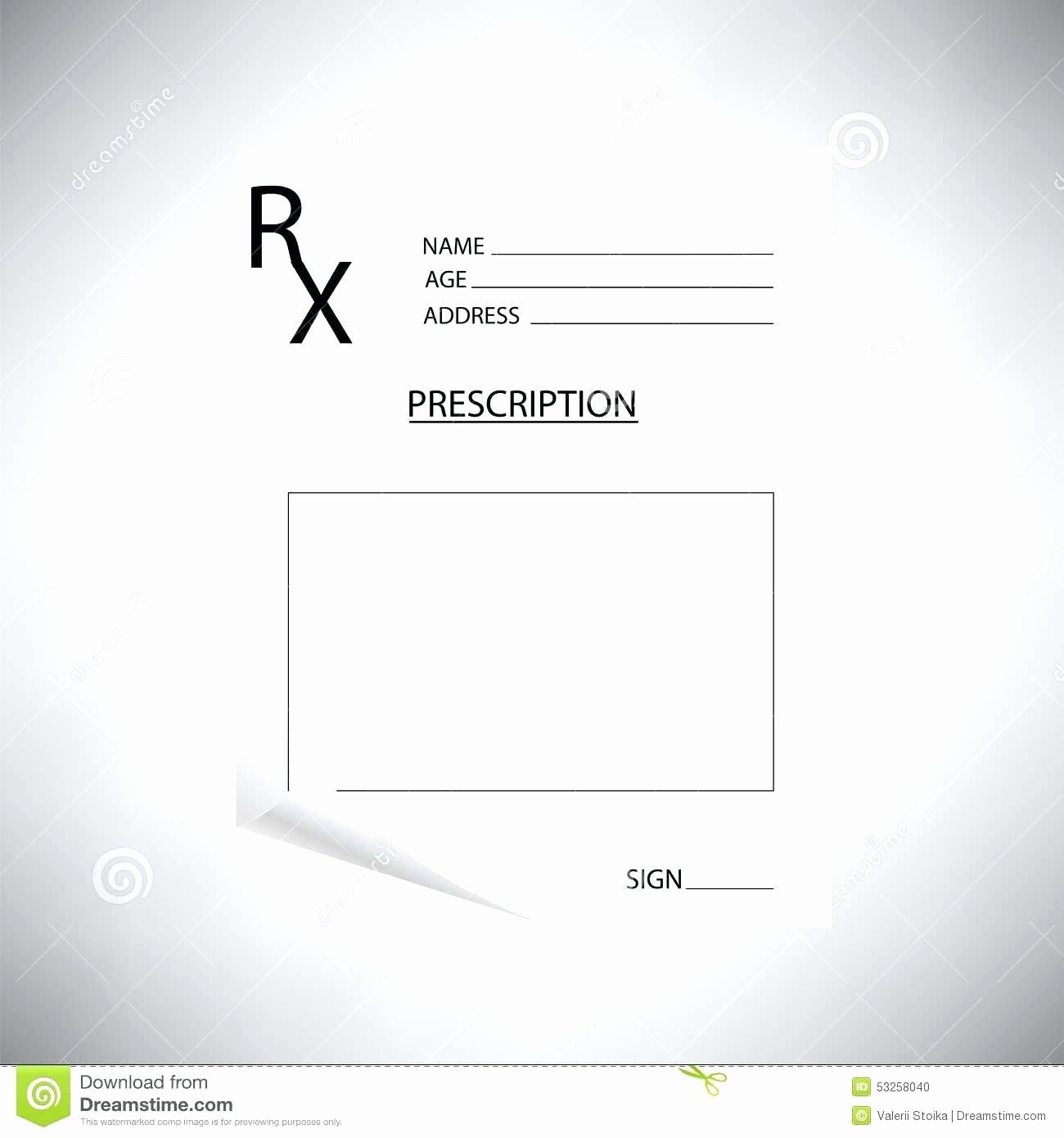 Blank Prescription Pad Template