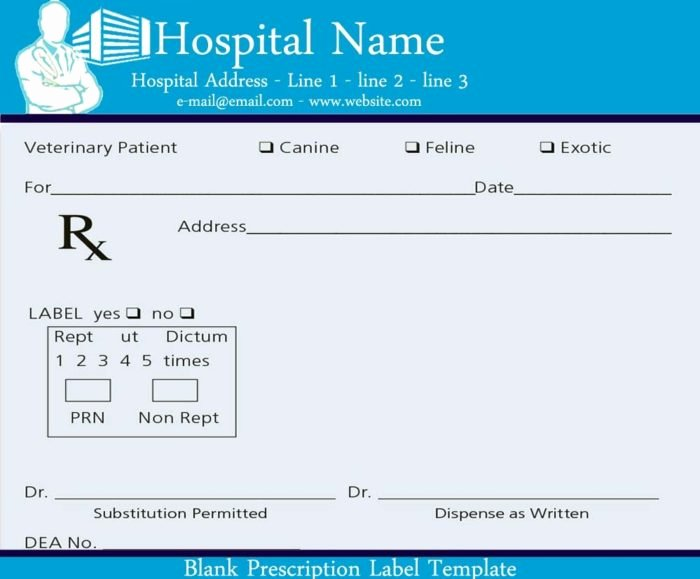 Blank Prescription Pad Template Templates Resume