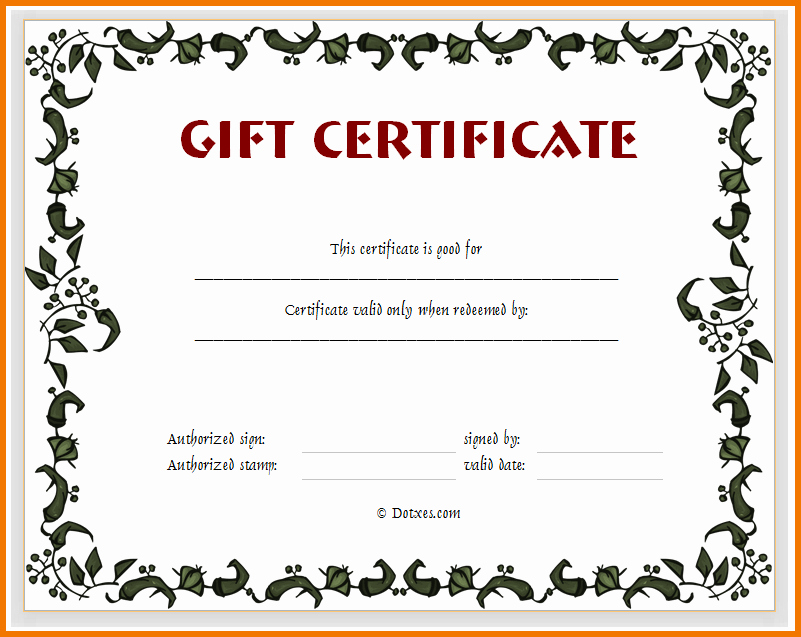 Blank Printable Gift Certificate Gift Ftempo