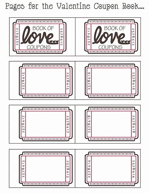 "Blank ""book Of Love"" Coupons Uld Be for Husband or"