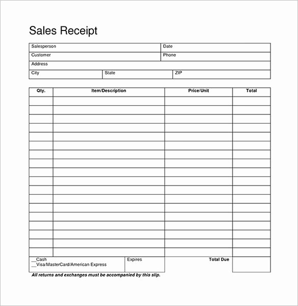 Blank Receipt Template – 20 Free Word Excel Pdf Vector