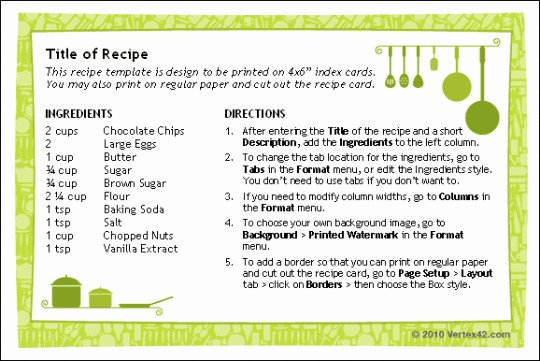 Blank Recipe Template 8x11 Templates Resume Examples