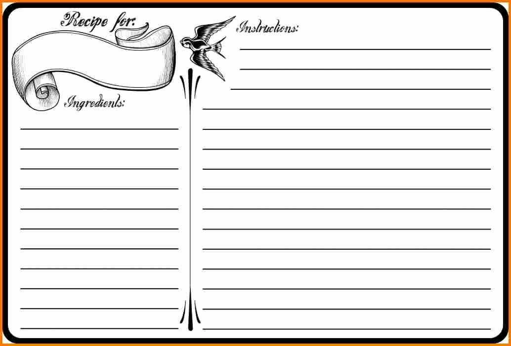 Blank Recipe Template