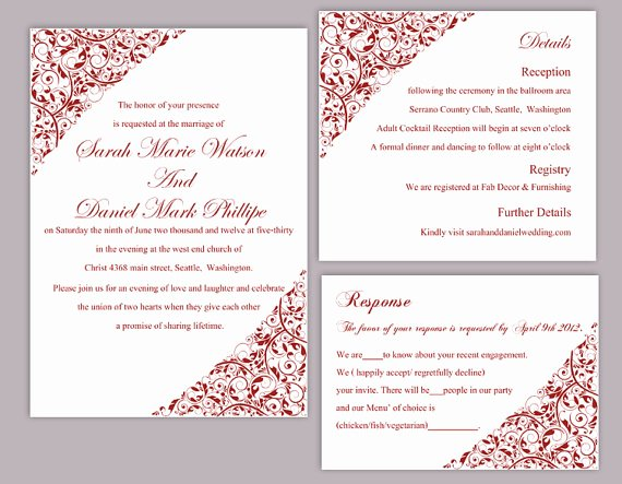 Blank Red Wedding Invitation Template – orderecigsjuicefo