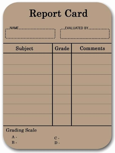 Blank Report Card for Student Video Search Engine at