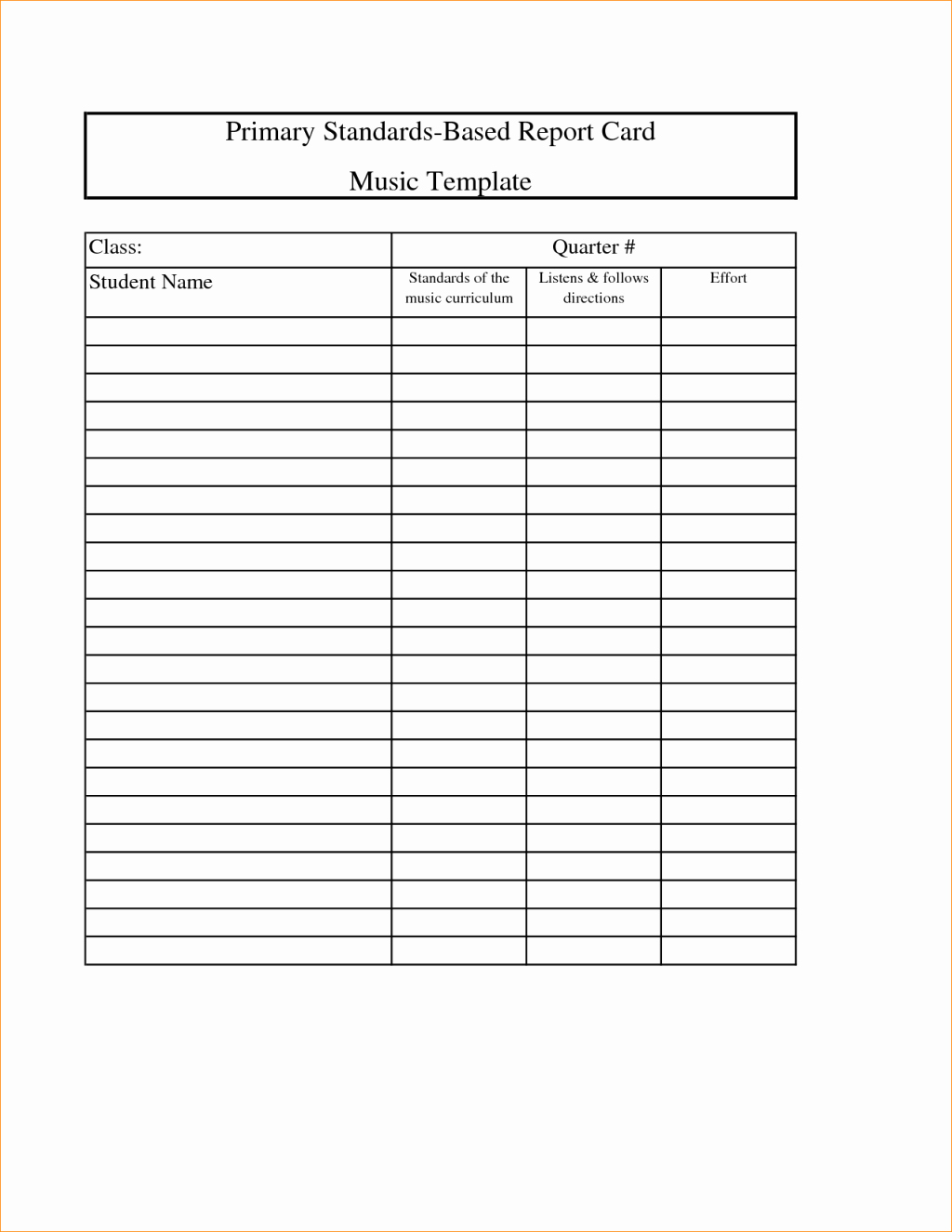 Blank Report Card Templates Pay Stub Template