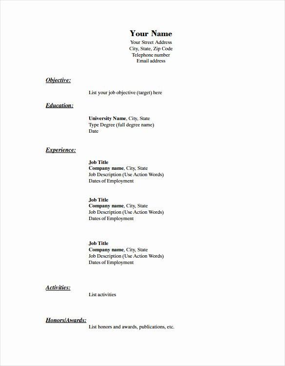 Blank Resume Template – 15 Free Psd Vector Eps Ai