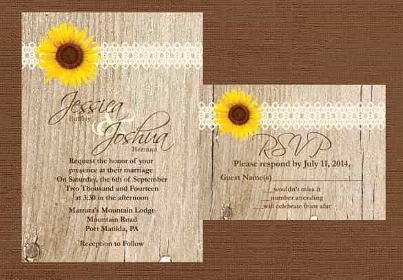 Blank Rustic Wedding Invitation Templates Matik for