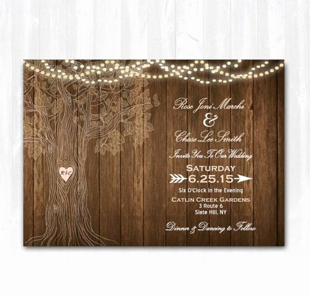 Blank Rustic Wedding Invitation Templates Templates