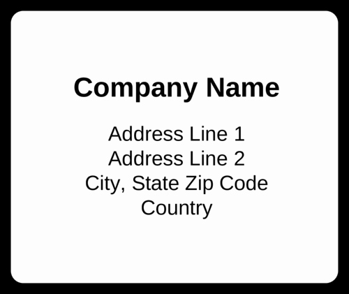 Blank Shipping Label Template Bing Images