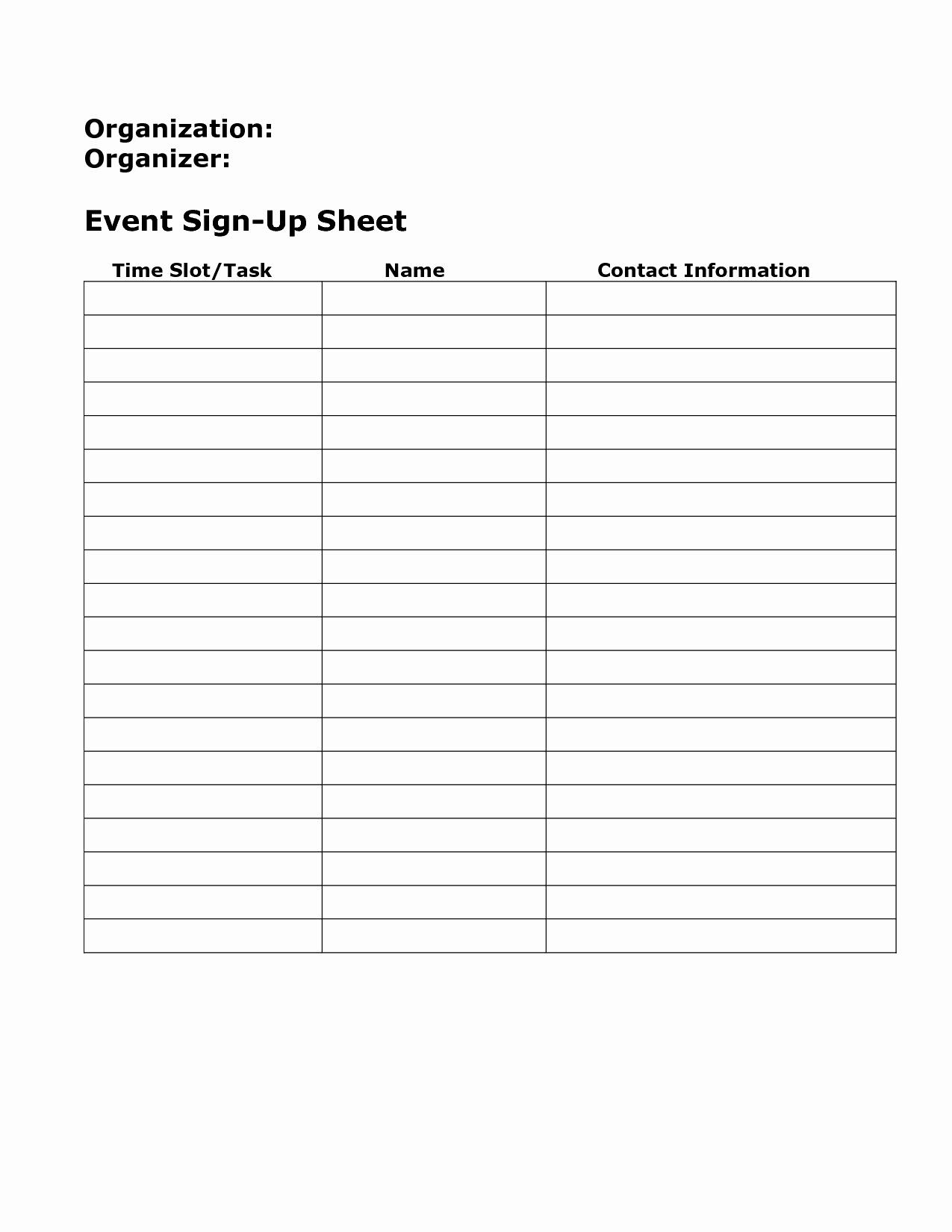 Blank Sign Up Sheet Example Mughals
