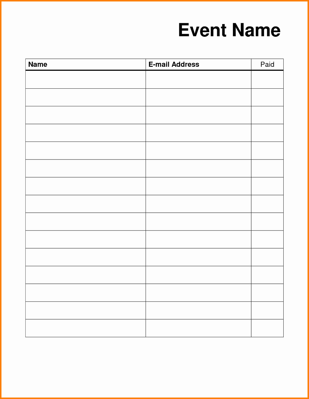 blank sign up sheet printable