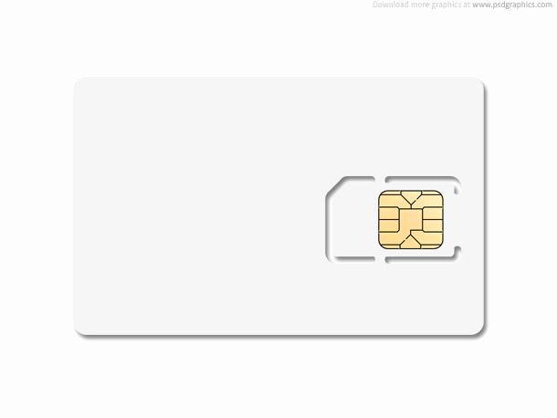 Blank Sim Card Template Edit Layered Psd File and Put