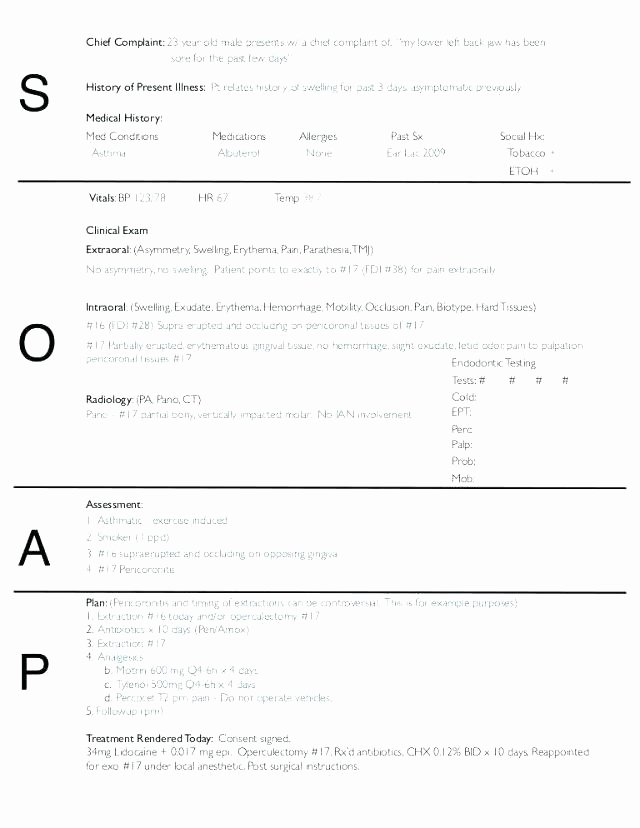 Blank soap Note Template New Word Notes form Equipped