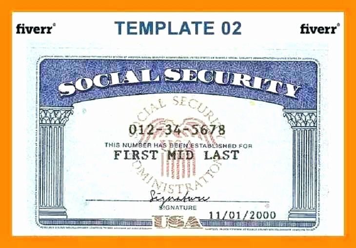 Blank social Security Card Template Download Free