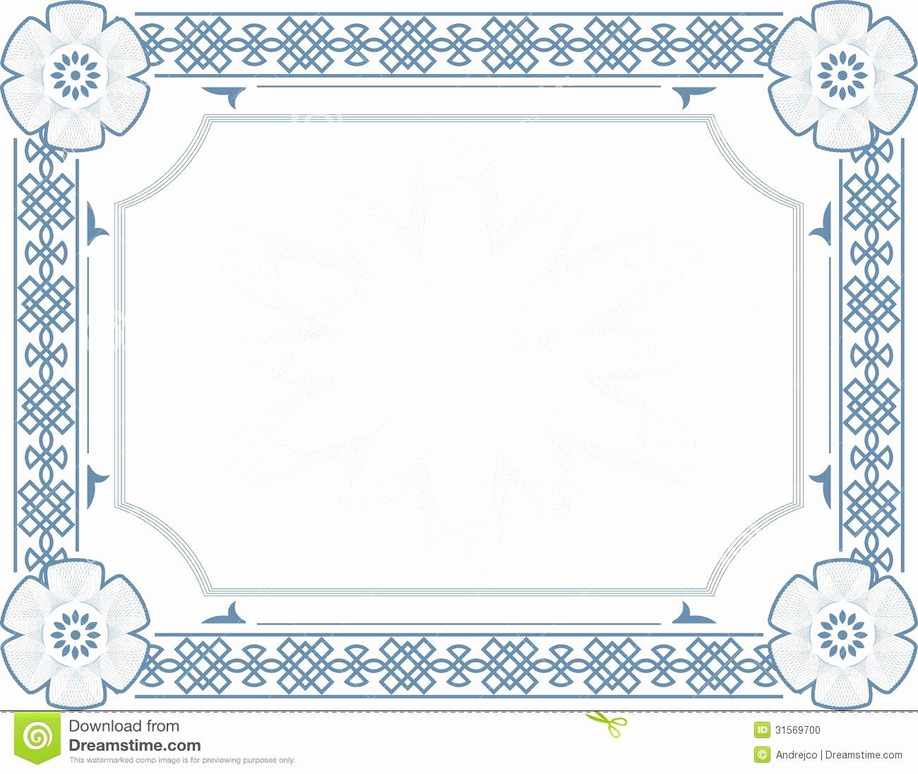 Blank Stock Certificate Template Mughals
