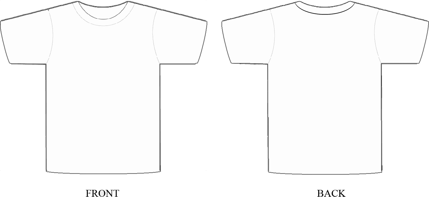 Blank T Shirt Design Template Blank T Shirt Design