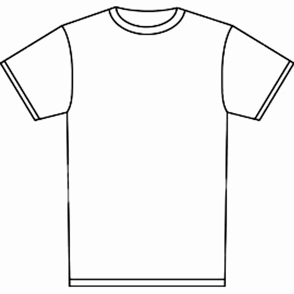 Blank T Shirt Template Clipart Best