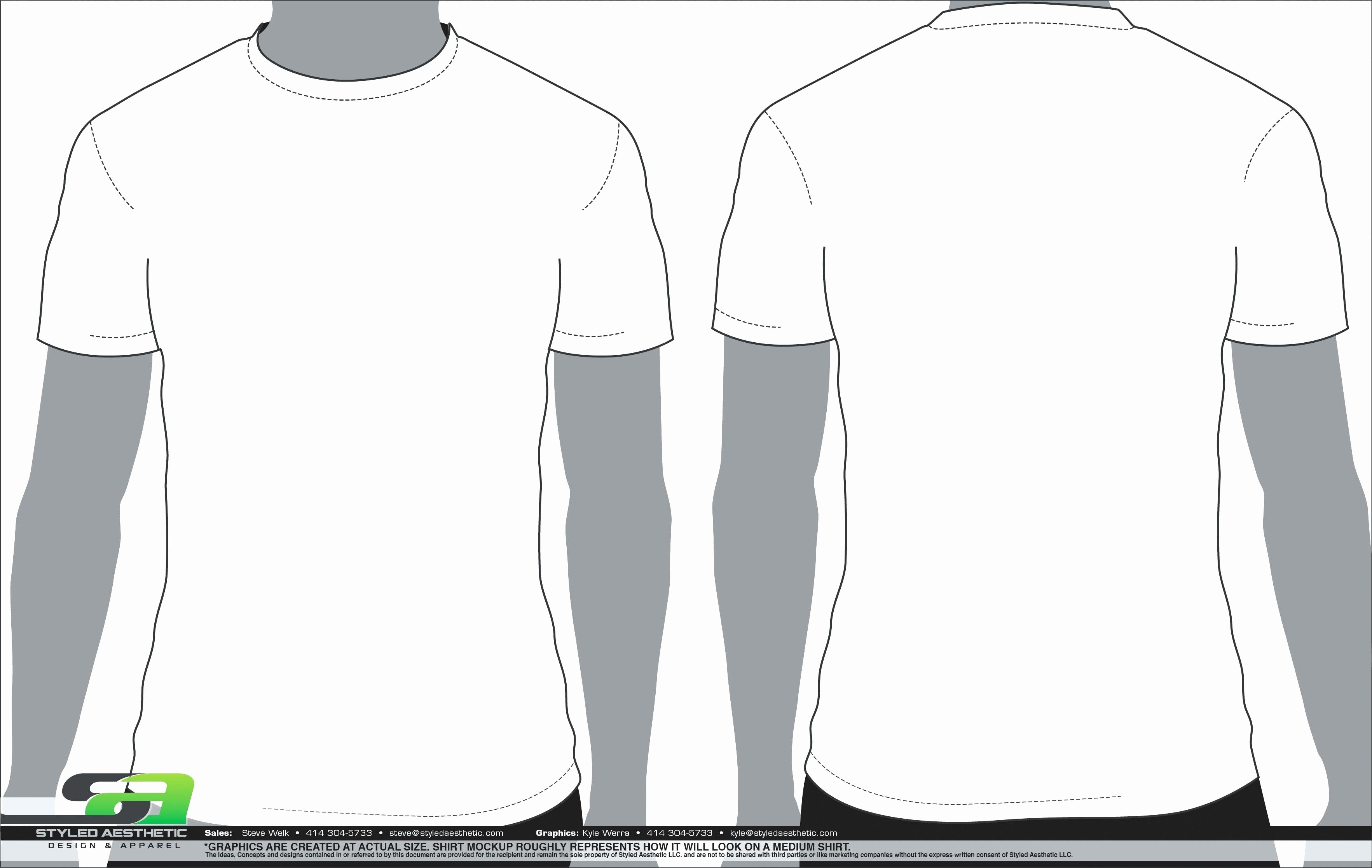 Blank T Shirt Template Front and Back