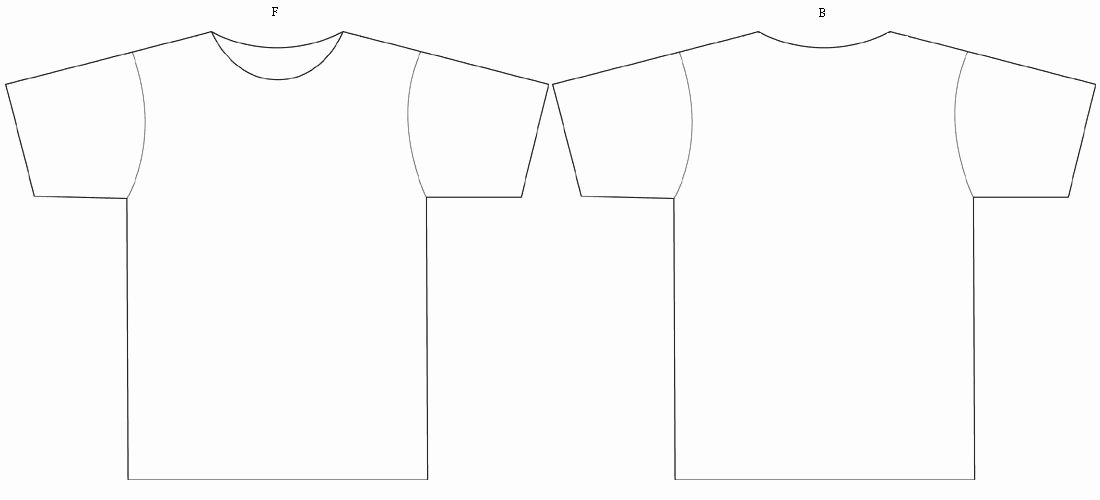 Blank T Shirt Template to Color