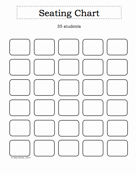 Blank Table Seating Chart to Pin On Pinterest