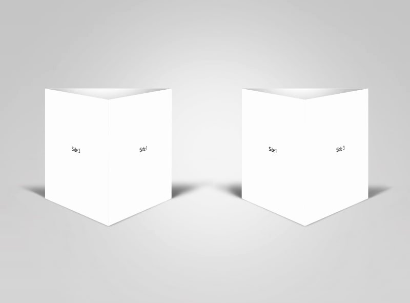 Blank Table Tent Templates