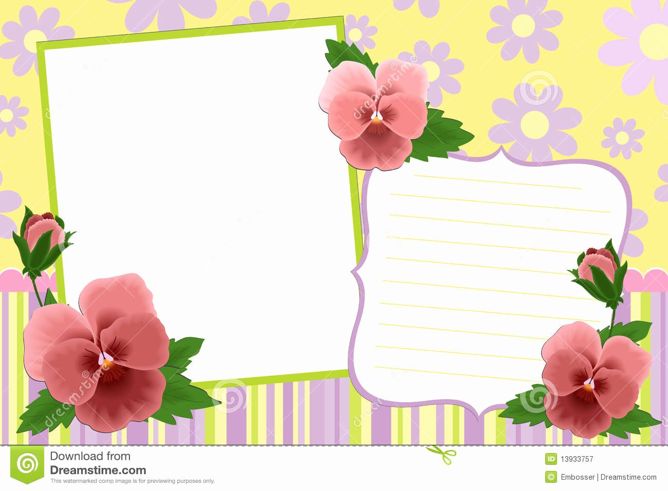 Blank Template for Frame Stock Vector Image