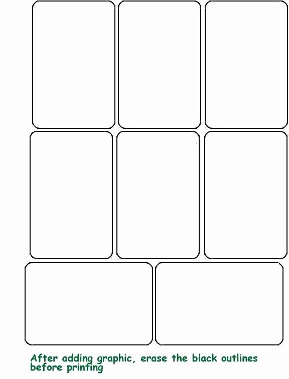 Blank Template Hrac Karty