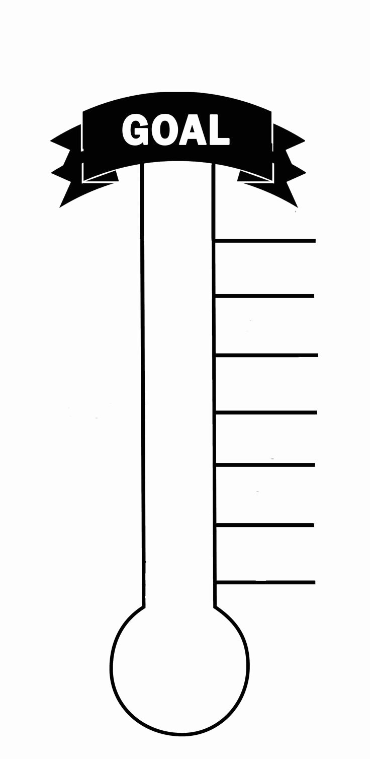 Blank thermometer Printable for Fund Raising & Creating A