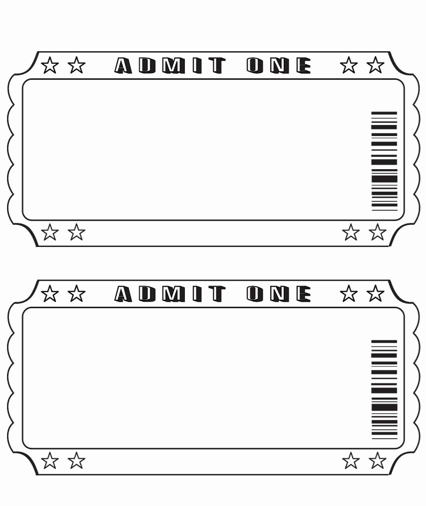 Blank Ticket … Diy and Crafts