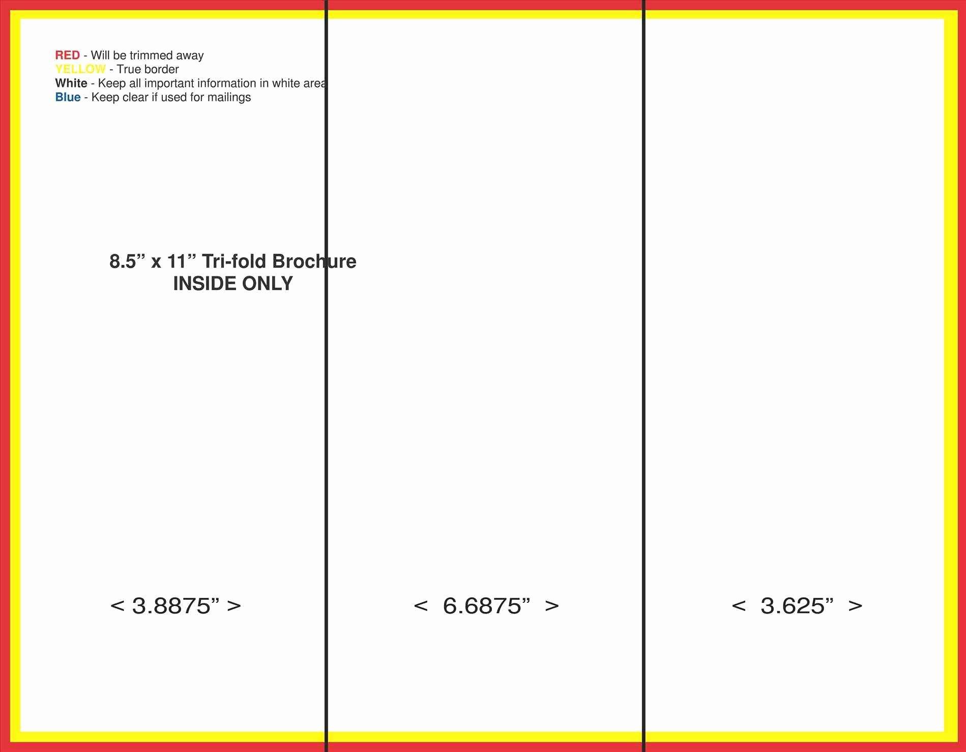 Blank Tri Fold Brochure Template Bamboodownunder