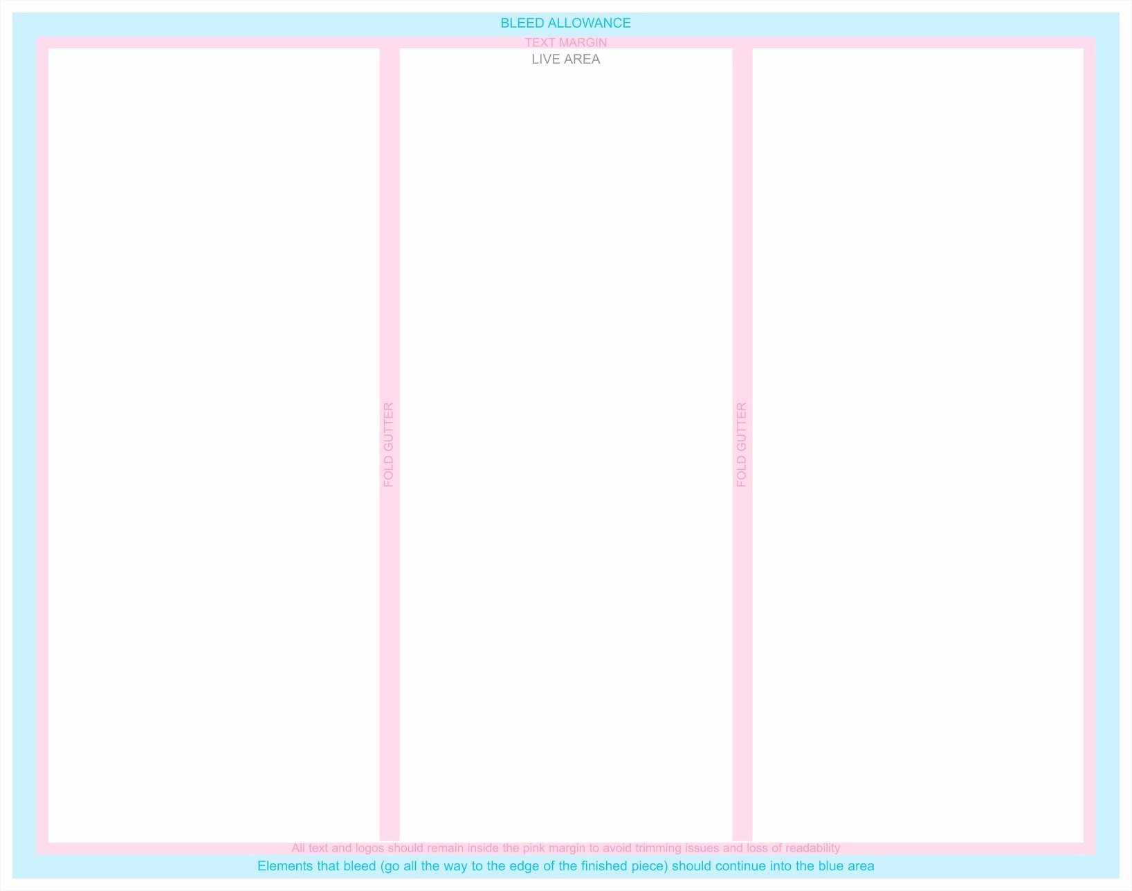 Blank Tri Fold Brochure Template Example Mughals