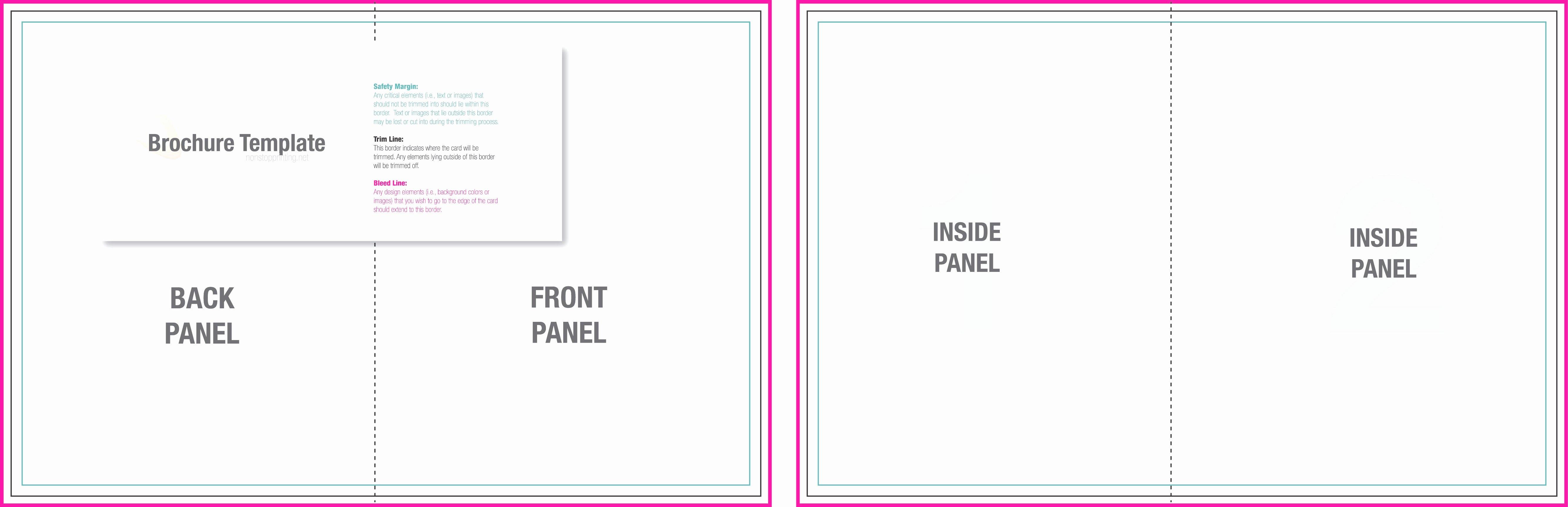 Blank Tri Fold Brochure Template Example Mughals
