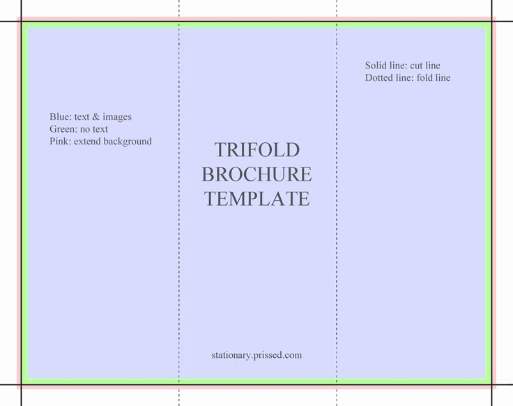Blank Tri Fold Brochure Template Free Download