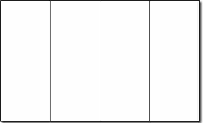 Blank Tri Fold Brochure Template Free Download Templates