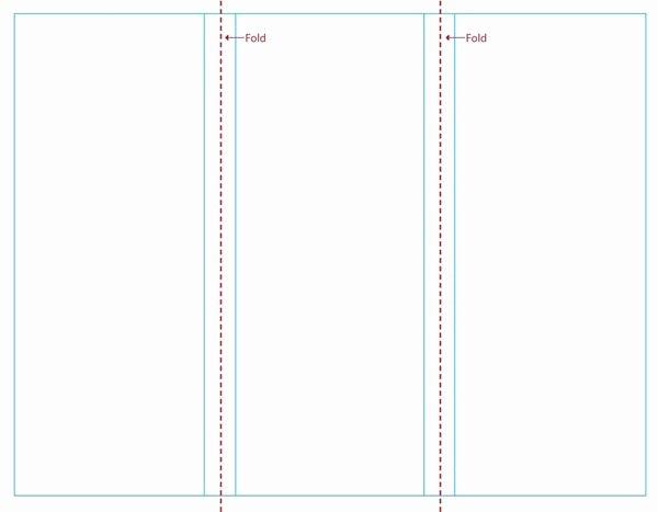 Blank Tri Fold Brochure Template Free Download